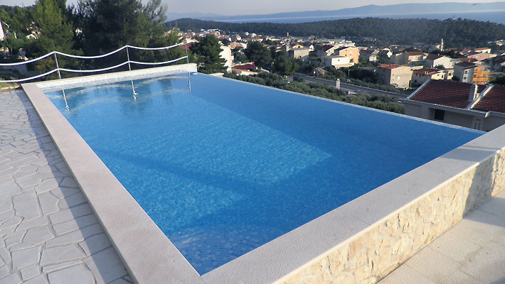 luxury apartments pool. makarska luxury apartments; apartments pool