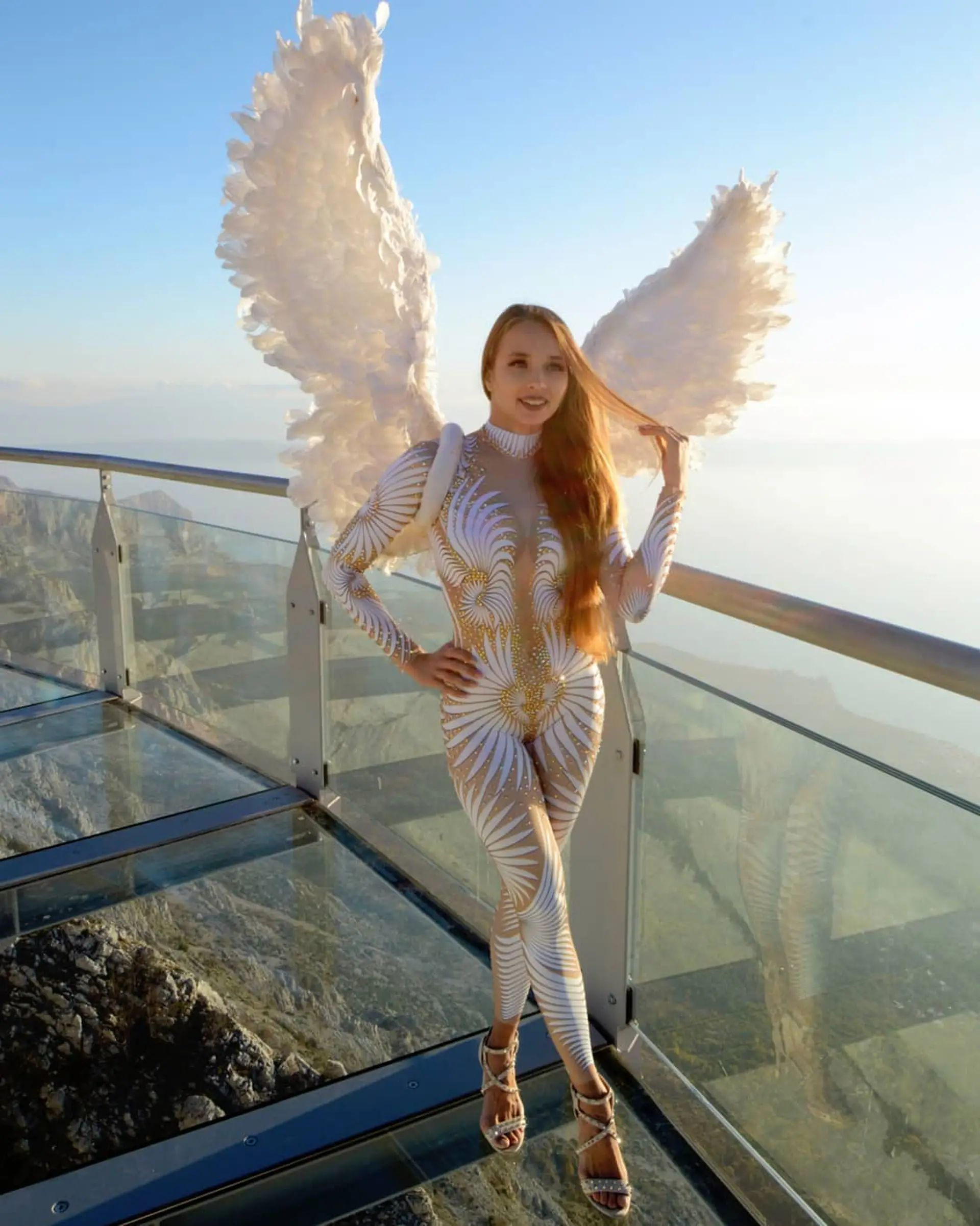 Russian beauty on Skywalk Biokovo